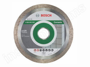Алмазный диск Standard for Ceramic Bosch d=125х7х22,2мм