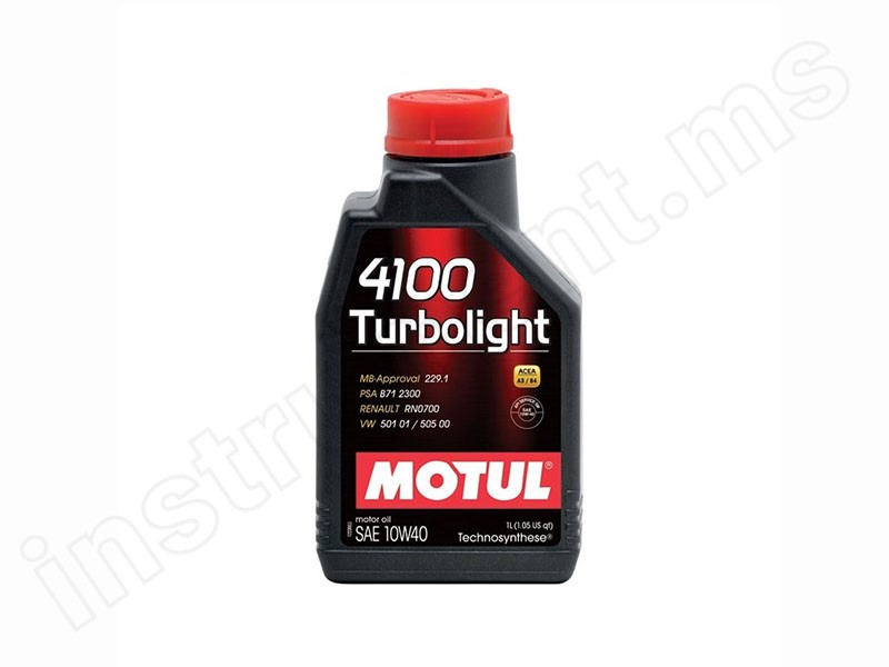 Масло 4-х тактное 1л. Motul 4100 Turbolight 10W40