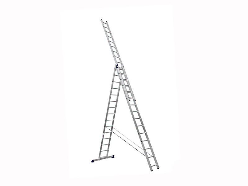Лестница трехсекционная Алюмет 3х16