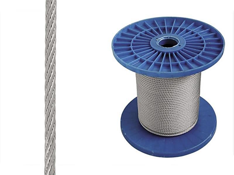 Трос DIN 3055 6х7 FC 100м 6мм
