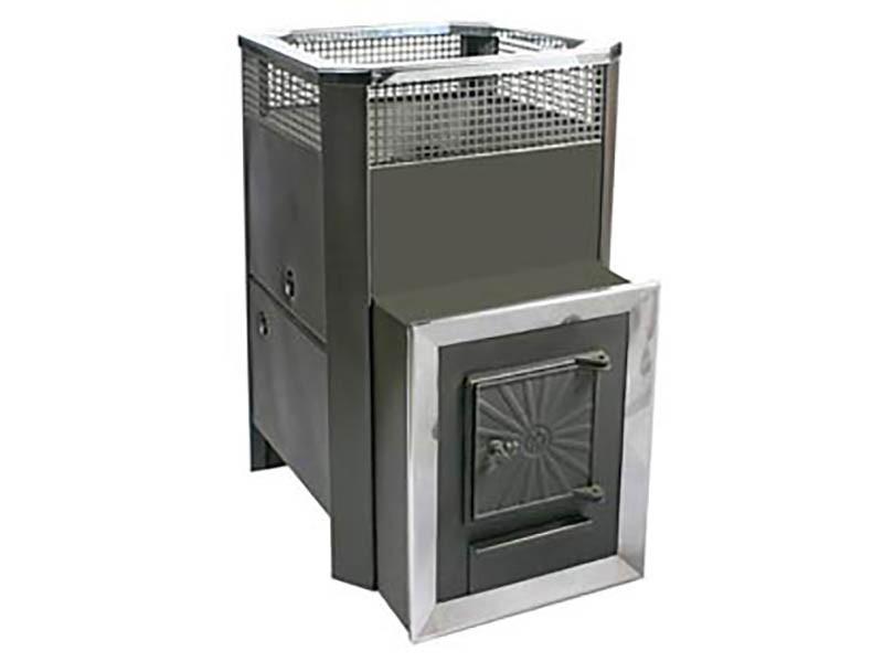Печь банная с теплообменником Радуга ПБ-31 сталь 4 мм