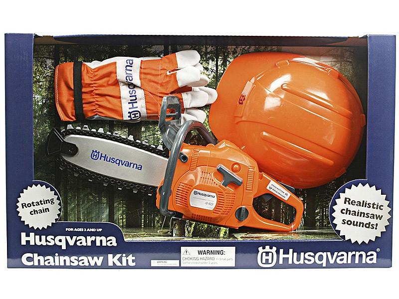 Игрушка бензопила+шлем+перч. Husqvarna 5864982-01