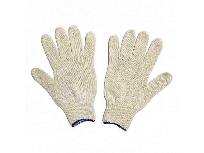 Перчатки белые без ПВХ 7,5 класс 5-ти нитка Россия