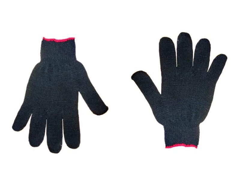 Перчатки чёрные без ПВХ 7,5 класс 5-ти нитка Россия