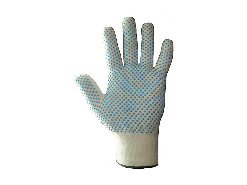 Перчатки нейлоновые с ПВХ размер 7-9 Россия