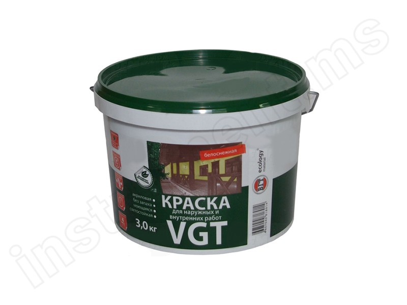 Краска ВД-АК-1180 для нар/вн раб.моющ.с/б 1,5 кг
