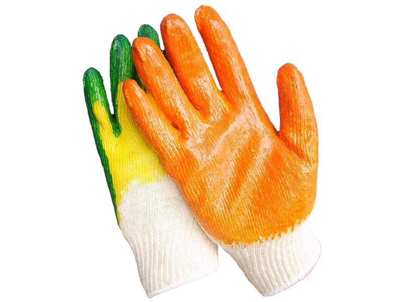 Перчатки трикотажные c 2-м латексным покрытием Россия