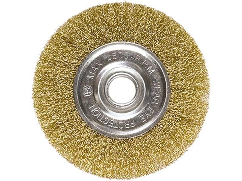 Зачистная щетка для дрели дисковая Интерскол d=50х7мм витая проволока