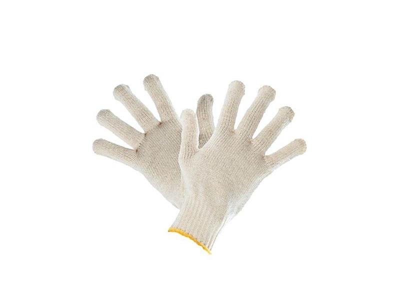 Перчатки белые без ПВХ 10 класс 5-ти нитка Россия