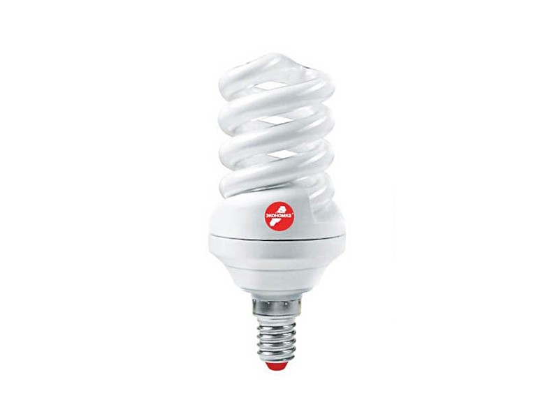 Лампа КЛЛ 25W E27 4200К белый свет Экономка Трубка T3