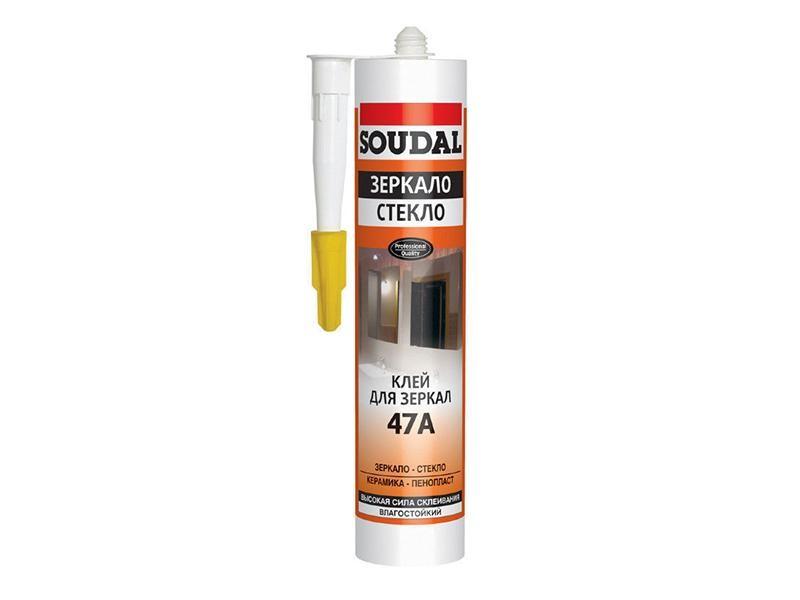 Клей жидкие гвозди для зеркал 300мл Soudal 47А