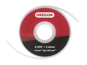 Леска для триммера, кассетная GATOR® Oregon d 2,4мм/7м х 3шт