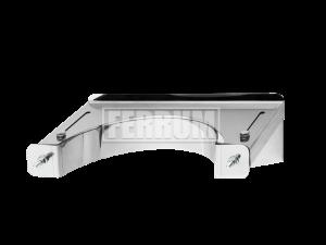 Кронштейн раздвижной №1, 430/1,0 мм, Ф115 Ferrum